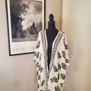 Plus size wrap/ kimono poncho type cover up